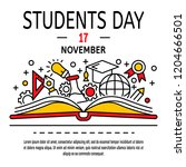 students day concept background....   Shutterstock .eps vector #1204666501