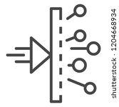 chemistry reaction icon.... | Shutterstock .eps vector #1204668934
