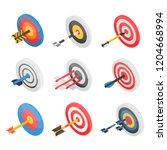 target icon set. isometric set... | Shutterstock .eps vector #1204668994