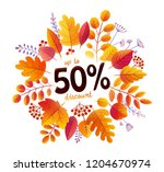 autumn orange leaves vector... | Shutterstock .eps vector #1204670974