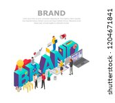 build brand concept background. ... | Shutterstock .eps vector #1204671841