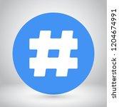hashtag  vector icon 10 eps | Shutterstock .eps vector #1204674991