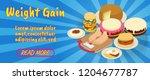 weight gain concept banner.... | Shutterstock .eps vector #1204677787