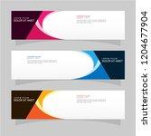 vector abstract design banner...   Shutterstock .eps vector #1204677904