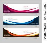 vector abstract banner design... | Shutterstock .eps vector #1204678387