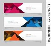 vector abstract banner design...   Shutterstock .eps vector #1204678741