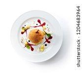 fried chicken kiev or cutlet...   Shutterstock . vector #1204683964