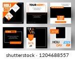 modern promotion square web... | Shutterstock .eps vector #1204688557