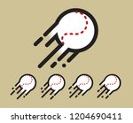 stitched baseball logo   icon... | Shutterstock .eps vector #1204690411
