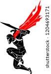 spartan surprise drop attack | Shutterstock .eps vector #1204693171