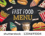 backgrounds with a hamburger ...   Shutterstock .eps vector #1204695004