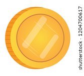 isolated golden coin image.... | Shutterstock .eps vector #1204700617