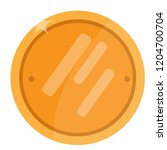 isolated golden coin image.... | Shutterstock .eps vector #1204700704