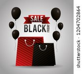 black friday shopping sales | Shutterstock .eps vector #1204702864