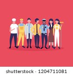 people labor day | Shutterstock .eps vector #1204711081