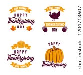 happy thanksgiving celebrate | Shutterstock .eps vector #1204713607