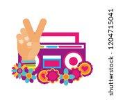 retro hippie style | Shutterstock .eps vector #1204715041