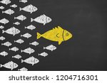 leadership concepts on... | Shutterstock . vector #1204716301