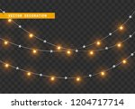 christmas decorations  isolated ... | Shutterstock .eps vector #1204717714