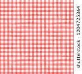 watercolor check   vector  red  ... | Shutterstock .eps vector #1204725364