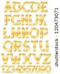gold alphabet set of letters... | Shutterstock .eps vector #120473071