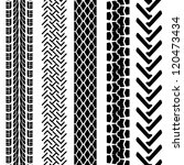set of detailed tire prints ... | Shutterstock .eps vector #120473434
