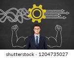 business person drawing service ... | Shutterstock . vector #1204735027