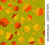 pentagon seamless pattern... | Shutterstock .eps vector #1204737691