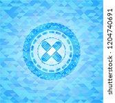 crossed bandage plaster icon... | Shutterstock .eps vector #1204740691