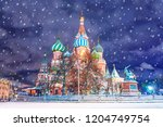 saint basil's cathedral in red...   Shutterstock . vector #1204749754