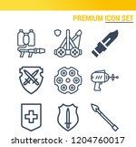 simple set of  9 outline icons... | Shutterstock .eps vector #1204760017
