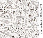 jazz instruments   seamless... | Shutterstock .eps vector #120476074