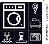 set of 6 machine outline icons... | Shutterstock .eps vector #1204764514
