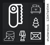 set of 6 bright outline icons... | Shutterstock .eps vector #1204764544