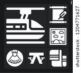 set of 6 texture filled icons... | Shutterstock .eps vector #1204771627