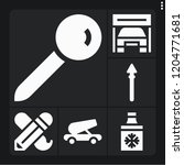 set of 6 metal filled icons... | Shutterstock .eps vector #1204771681