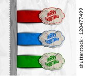 merry christmas labels set. eps ... | Shutterstock .eps vector #120477499