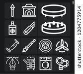 set of 13 metal outline icons... | Shutterstock .eps vector #1204775914