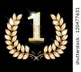 gold wreath for the winner  ... | Shutterstock .eps vector #120477631