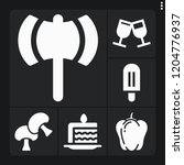 set of 6 closeup filled icons... | Shutterstock .eps vector #1204776937