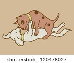 erotic couple dogs version 2.... | Shutterstock .eps vector #120478027