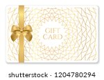 gift card with abstract... | Shutterstock .eps vector #1204780294