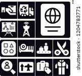 set of 13 business filled icons ... | Shutterstock .eps vector #1204783771