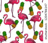 beautiful seamless pattern of...   Shutterstock .eps vector #1204786147