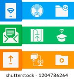 simple set of  9 filled icons... | Shutterstock . vector #1204786264