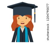 young woman graduating avatar... | Shutterstock .eps vector #1204790077