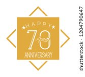 number 70 for anniversary... | Shutterstock .eps vector #1204790647