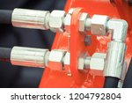 detail and part of industrial... | Shutterstock . vector #1204792804