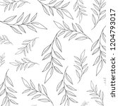 beautiful leafs pattern... | Shutterstock .eps vector #1204793017