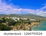 aerial view of the beach  nerja ... | Shutterstock . vector #1204793524